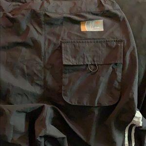 Kaimi Pants - Kaimi black EDM rave pants w/ bungee back detail